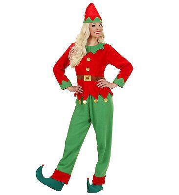 Ladies Santas Helper Elf Fancy Dress Costume Christmas Outfit Uk 8/10 Womens Santas Helper Outfit