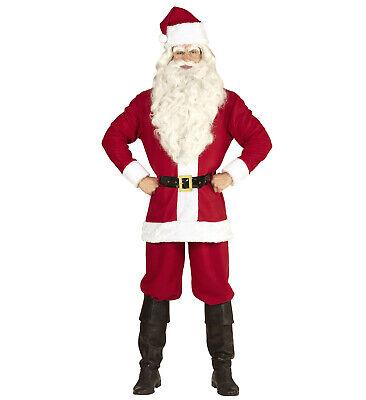 Weihnachtsmannkostüm mit Jacke, Hose, Gürtel, Hut - Classic (Kostüm Mit Hose)
