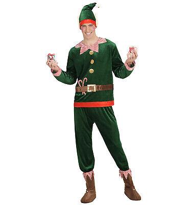 Elf Santas kleiner Helfer Oberteil Hose Schuhüberzieher Mütze Ohren Elfkostüm - Santas Kleiner Helfer Kostüm