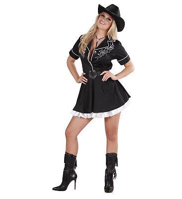 Rodeo Girl Cowgirl Kleid Unterrock Gürtel Kostüm Verkleidung - Rodeo Girl Kostüm