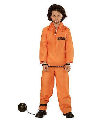 ONER  COUNTY JAIL INMATE ORANGE JUMPSUIT KIDS FANCY DRESS  (Kids Orange Jumpsuit Kostüm)