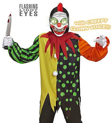 WIM 07906 Killer Clown Harlekin Narr Hofnarr Zirkus Maske Kinder Unisex Kostüm (Kind Killer Clown Kostüm)