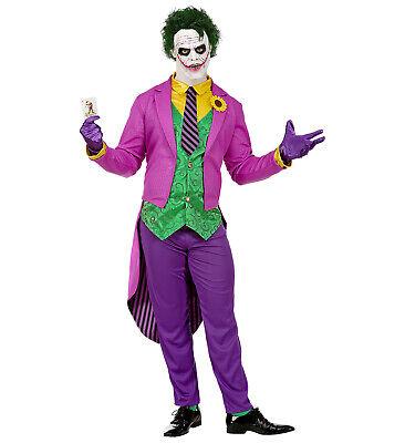 Mad Joker Frack mit Hemd und Weste Hose Krawatte Handschuhe Jokerkostüm XL neu