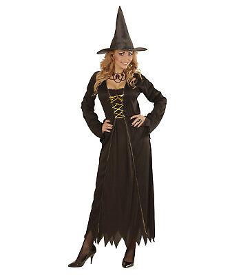 Fasching Halloween Kostüm Damen HEXE Zauberin böse Fee - Kleid und - Faschingkostüm Fee