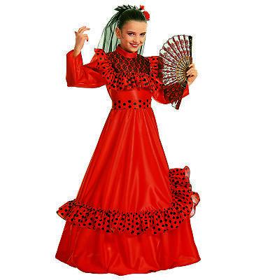 SPANISH BEAUTY FANCY DRESS COSTUME GIRLS INTERNATIONAL SENORITA