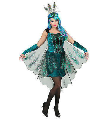 Womens Ladies Peacock Fairy Pixie Adult Fancy Dress Costume Outfit UK Dress 8-16
