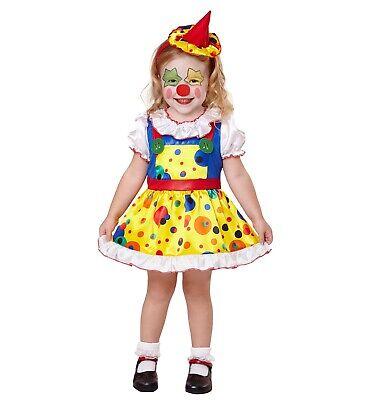 Clown Girl Kleid Minihut Clownkostüm Verkleidung Kleinkind Mädchen Gr. 104 neu (Clown Kleid Kind Kostüme)