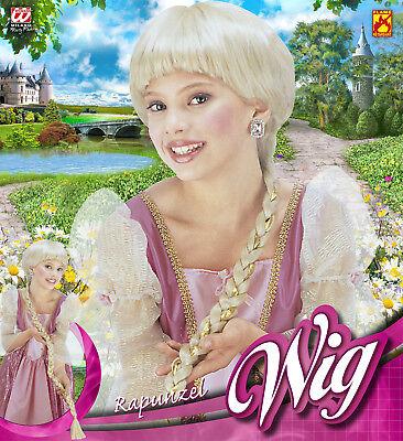 Widmann S.r.l. Rapunzel Kinderperücke Blond Flecht Zopf Strähnchen 126290R13