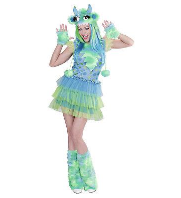Monster Girl grün Kleid Kopfteil Handschuhe Stulpen Kostüm Karneval süß Größe - Grüne Kostüm Handschuhe
