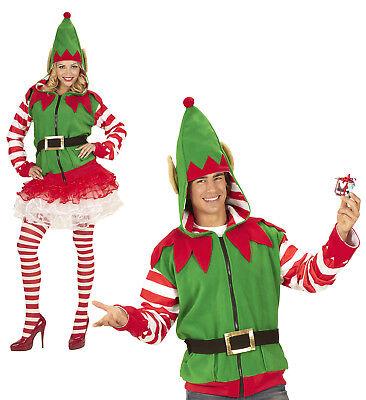 WIM 07038  Elf Santa`s  Helfer Elfen Unisex Erwachsene Karneval Fasching Kostüm ()