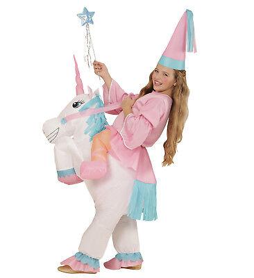 WIM 75502 Einhorn Unicorn aufblasbar OS Fasching Karneval Kinder Unisex Kostüm