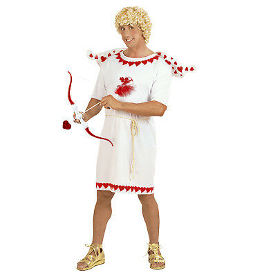 Mens Male Mr Cupid Adult Fancy Dress Valentines Day Costume Outfit S To XL