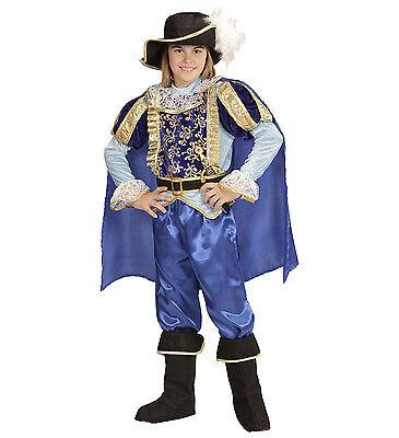 ANT 96835 Kinder Fasching Jungen Kostüm Blauer Prinz Prince Märchen König - Prince Junge Kostüm