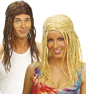 Dreadlocks, Rasta, dreads Herren u. Damen braun o. blond Karneval, Mottoparty