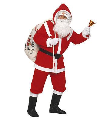 Flanell Santa Claus Kostüm komplett Weihnachtsmannkostüm M/L + weiße - Weiß Santa Kostüm