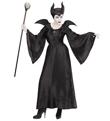 WIM 03701 Fasching Halloween Damen Kostüm Malefizia böse Königin Evil Witch Hexe ()