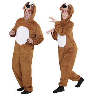 Plush Brown Dog Fancy Dress Costume Puppy Animal Pet Outfit Adult Unisex M/L ()