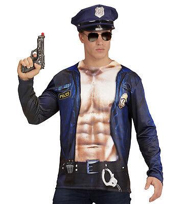 IAL 98703 Shirt Polizei Police Cop T-Shirt FBI - Herren Cop Kostüme Tshirt