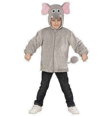 ANT 97489  Elefant Elephant Rüssel Jacke Fasching Karneval Kinder Unisex Kostüm (Kinder Elefanten Kostüme)
