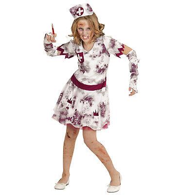 WIM 07506 Kinder Mädchen Kostüm Zombie Krankenschwester Hospital Nurse - Krankenschwester Kostüm Kind