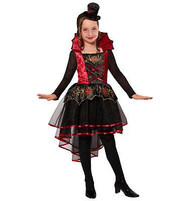 Wim 07496 Vampir Vampirin Blutsauger Fasching Halloween Mädchen Kostüm Mini Hut