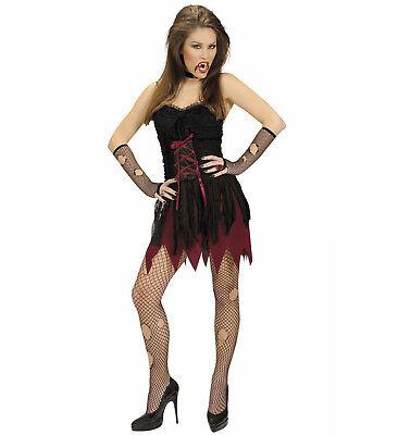 2 tlg Vampira Vampir Kostüm, Damen, Halloween sexy kurz, Gr. 34