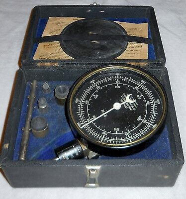 Tachometer Model J Hand Tachometer Rare Vintage In Original Box