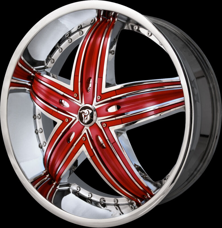 26 Inch  Diablo Rage Wheels Rims & Tires Fit 5 X 115 Escalade, Gmc