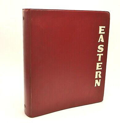 Vtg Eastern Kentucky State College Univ 2 3 Ring Binder Raised Letters Pre-1966
