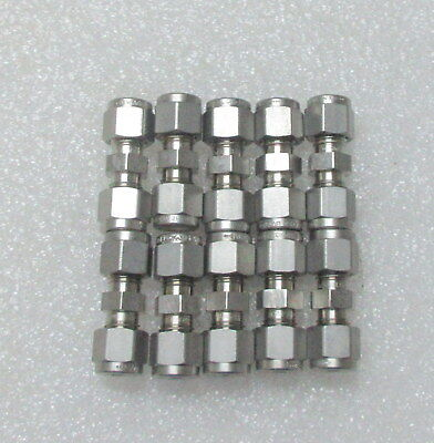 Lot Of 10 Swagelok 14 Tube Stainless Steel Fitting Union Ss-400-6 New