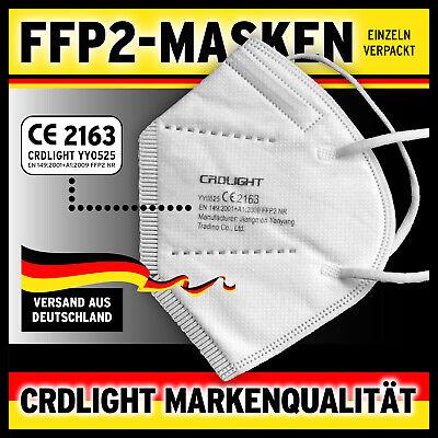 25 x FFP2 Maske Mundschutz Masken Atemschutz 5-lagig Gesichtsschutz zertifiziert