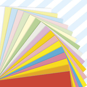 A5-Sheets-Coloured-Craft-Printer-Copier-Card-160gsm-Stock-Pack-Plain