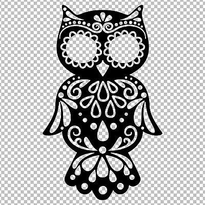 OWL SUGAR SKULL DAY OF THE DEAD ANIMAL YETI VINYL DECAL STICKER TUMBLER - Day Of The Dead Stickers