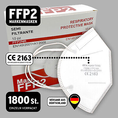 1800 FFP2 Maske Zertifiziert Masken 5lagig Mund Schutz CE0194EN149 Gesichtsmaske