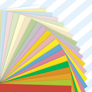 A5-Sheets-Coloured-Craft-Printer-Copier-Paper-80gsm-Stock-Pack-Plain