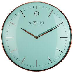 Boyle Home Décor Modern Designer Clock NeXtime Glamour - Turquoise/ Rose Gold