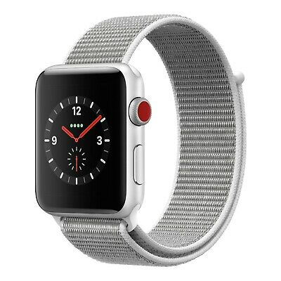 Apple Watch 3 42mm Silver Aluminum Case with Sport Loop Band (GPS + Cellular)
