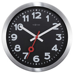 Boyle Home Décor  Clock NeXtime Station Number Wall & Table Clock - Black