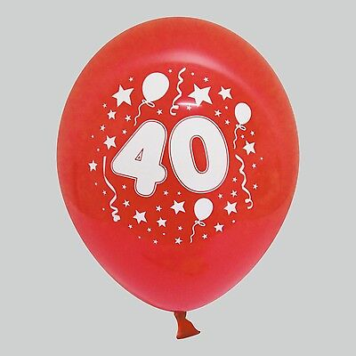 40 Geburtstag Ballons (30 / 50 Luftballons mit Wunschzahl 40 für Geburtstag Feier Jahr Zahl)
