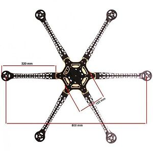 RCT800 Hexacopter Frame Kit Integrated PCB Wiring DJI S800