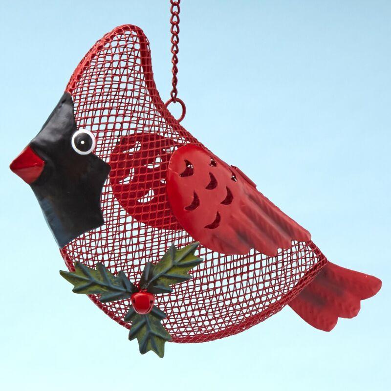 Mesh Outdoor Bird Feeder for Wild Birds -  Cardinal