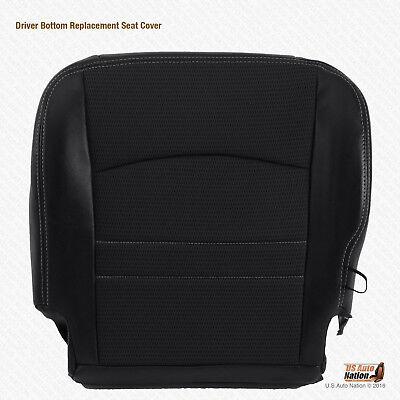 2011 2012 Dodge Ram 1500 Sport Driver Bottom Dark Gray Cloth/Leather Seat Cover