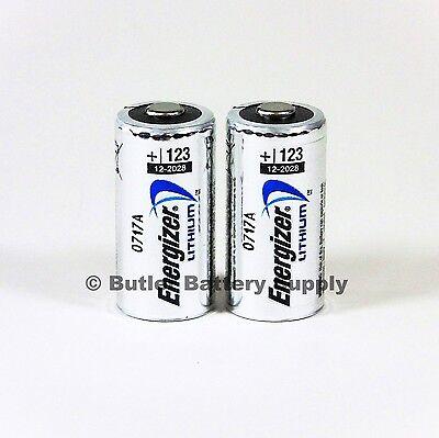 2 x cr123 3v lithium batteries cr123a