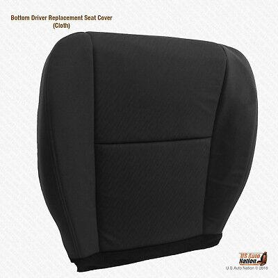 2009 2010 Chevy Silverado 1500 Replacement DRIVER Bottom Cloth Seat Cover BLACK