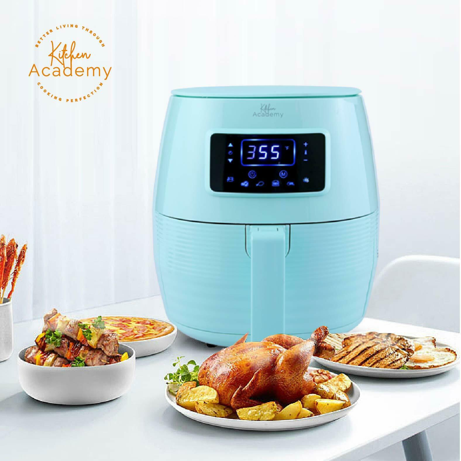 Kitchen Academy Air Fryer ,5.8 Qt Electric Hot Air Fryers,Aq
