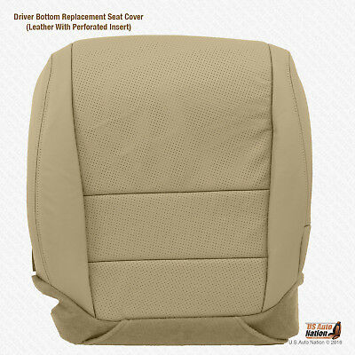 Fits 2004 - 2008 Acura TL Driver Bottom Tan Perforated Leather Replacement - Acura Tl Replacement Driver