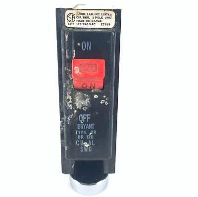Bryant Br120 Circuit Breaker 20 Amp 1 Pole 120240 Vac