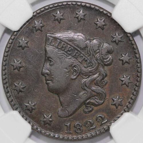1822 1c N-6 Coronet or Matron Head Large Cent NGC VF 35