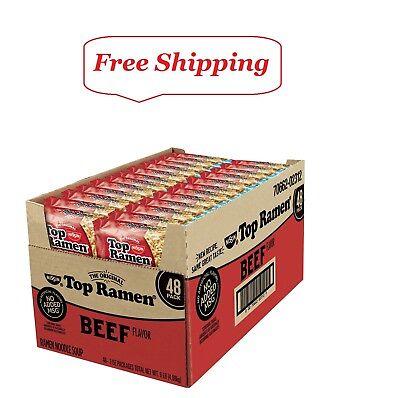 Nissin Top Ramen, Beef Flavor 3 oz., 48 ct. ()