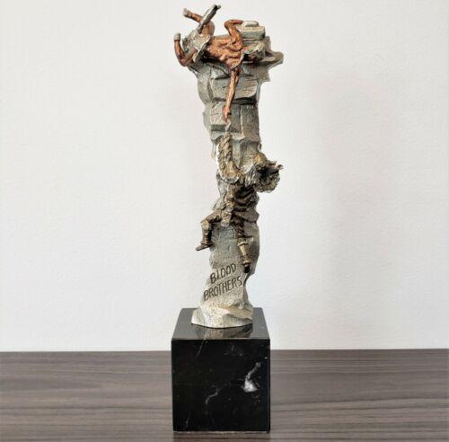 "AS-IS Peter Sedlow ""Blood Brothers"" 1991 Masterworks Pewter Sculpture 406/4500"